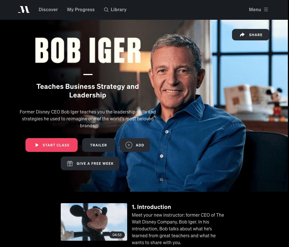 bob iger masterclass review