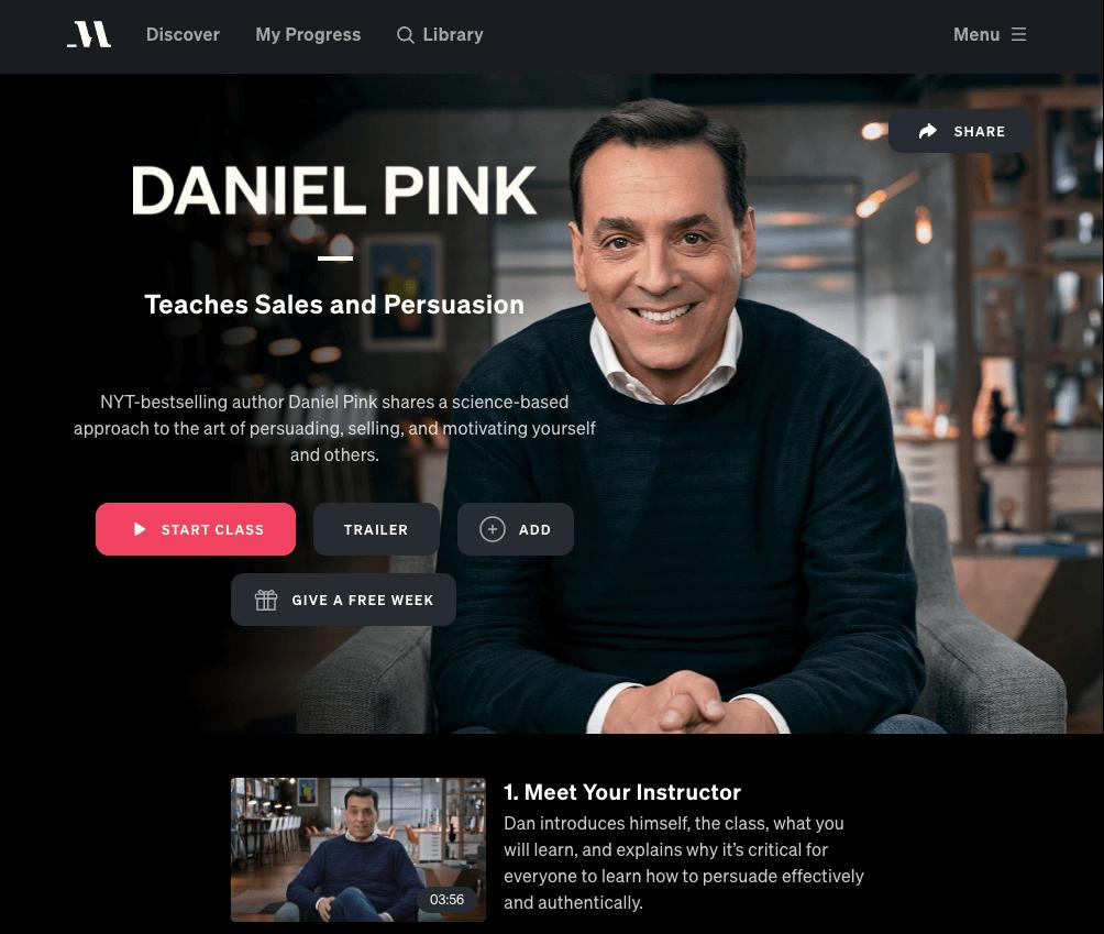 daniel pink masterclass review