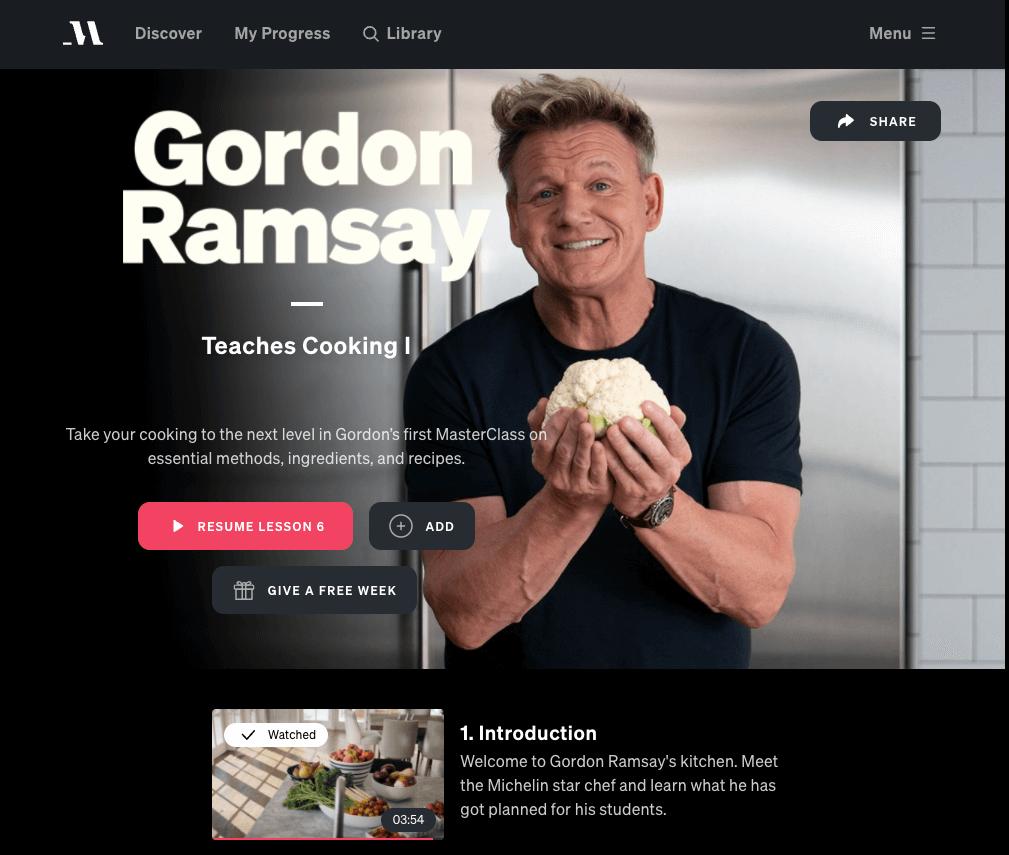 masterclass review gordon ramsey masterclass cooking