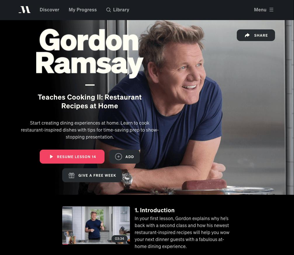 masterclass review gordon ramsey masterclass restuarant cooking