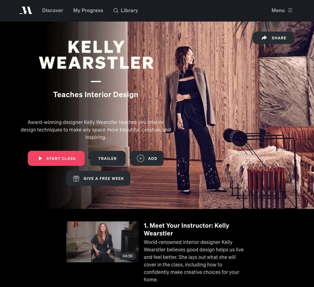 kelly wearstler masterclass review