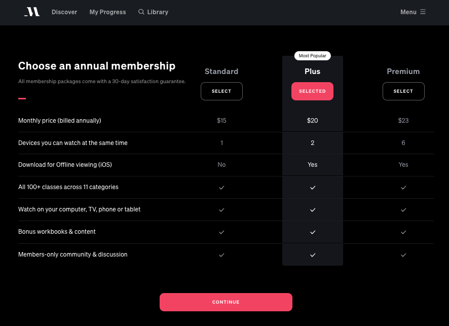 masterclass review pricing plans