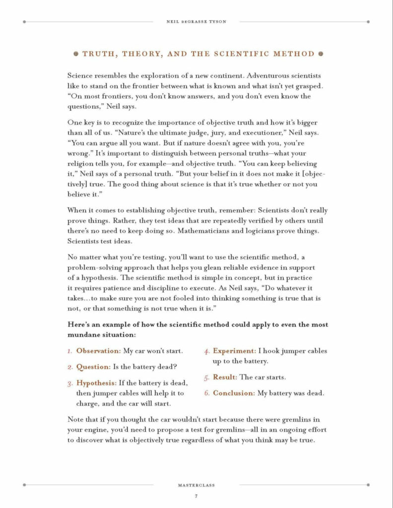 neil degrasse tyson masterclass workbook sample